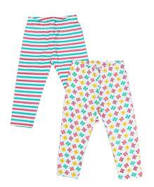 Beebay Printed Leggings Set Pack of 2 - Multi Color