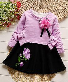 Petite Kids Floral Applique Top & Skirt Set - Lavender
