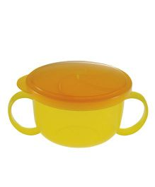 Richell Twin Handle Snack Cup - Yellow And Orange