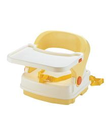 Richell 2 Height Booster Seat - White And Yellow
