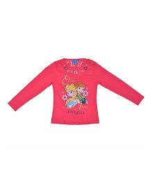 Kuddle Kids T-Shirt With Net On Shoulder - Pink