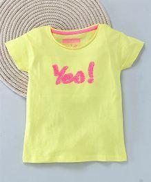 Kuddle Kids Yes Design T-Shirt - Yellow