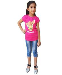 Kuddle Kids Bambi Print T-Shirt - Pink