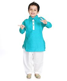Little Pockets Store Pathani Set For Boys - Blue