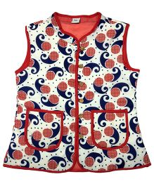 Little Pockets Store Reversible Quilted Jacket - Blue & Maroon