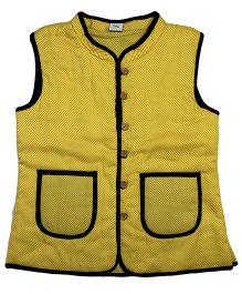 Little Pockets Store Reversible Quilted Jacket - Yellow