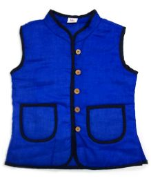 Little Pockets Store Reversible Quilted Jacket - Blue