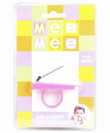 Mee Mee Nail Cutter With Tiny Handle Pink - Length 5 cm