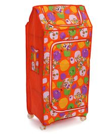 Lovely Novelty Multi Purpose Almirah English Print - Orange