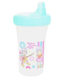 Purple Turtle Spill Free Feeding Cup Green - 250 ml