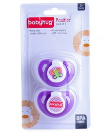 Babyhug Pacifier With Cover Pack Of 2 - Purple