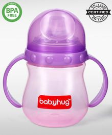 Babyhug Sipper Cup With Twin Handles Purple - 240 ml