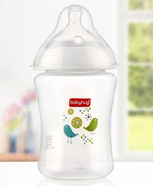 Babyhug Wide Neck Polypropylene Feeding Bottle - 250 ml