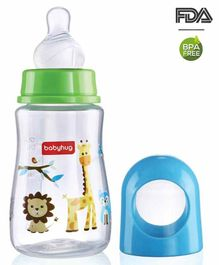 Babyhug Bubble Feeding Bottle Blue - 125 ml
