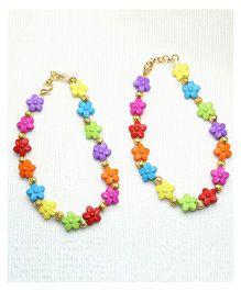 Asthetika Flower Anklet - Multicolored