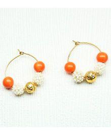 Asthetika Pearl Earrings - Orange