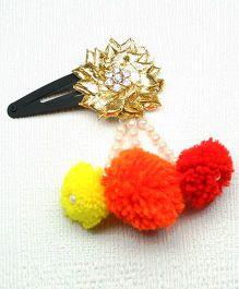 Asthetika Gota Hair Clip With Pom Pom Tassel - Multicolored