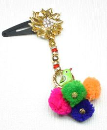 Asthetika Gota With Parrot Hanging Hair Clip - Multicolored