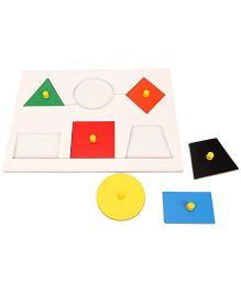 Little Genius Inset Shape Board Small With Knob - Multi Color