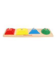 Little Genius Peg-A-Shape - Multi Color