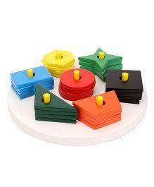 Little Genius Circle Shape Sorter Board - Multi Color