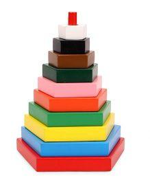 Little Genius Build A Tower Rectangle Multi Color - 10 Pieces
