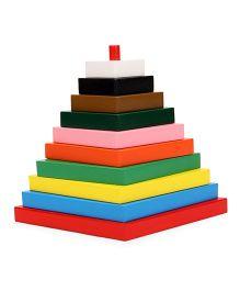 Little Genius Build A Tower Rhombus Multi Color - 10 Pieces