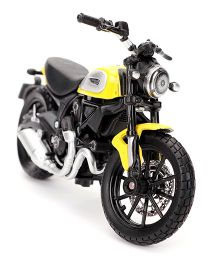Maisto Scrambler Ducati Toy Bike- Yellow Black