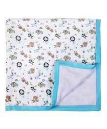 My Milestones Muslin Blanket 2 Layered - Blue