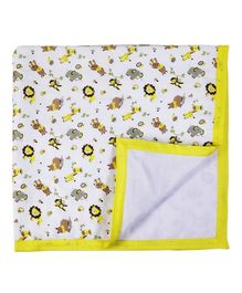 My Milestones Muslin Blanket 3 Layered - Lemon Yellow