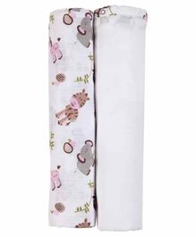 My Milestones Swaddle Wrapper Pack of 2 - Pink