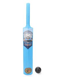 Hotwheels Cricket Bat And Ball - Blue And Black