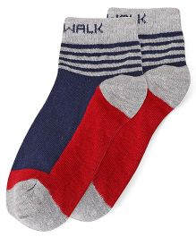Cute Walk by Babyhug Anti Bacterial Socks - Red Blue