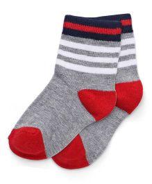 Cute Walk by Babyhug Anti Bacterial Regular Length Socks - Grey