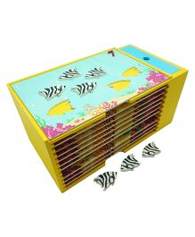 Skola Wooden Counting Fish Set - Multicolour