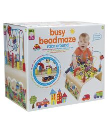 Alex Toys Alex Jr. Busy Bead Maze Race Around - Multi Color