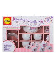 Alex Toys Chasing Butterflies Ceramic Tea Set - 13 Pieces
