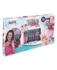 Alex Toys Spa Ultimate Sketch It Nail Pens Party - Multi Color
