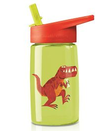 Crocodile Creek Tritan Bottle Dino Print Green Orange - 470 ml