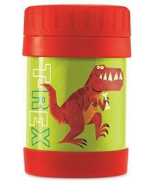 Crocodile Creek Insulated Food Jar Dino Print - Green Red