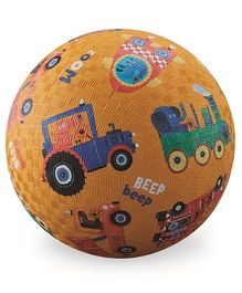 Crocodile Creek Play Ball Vehicle Print - Yellow