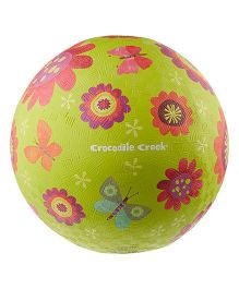 Crocodile Creek Play Ball Floral Print - Green
