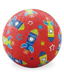 Crocodile Creek Play Ball Rocket Print - Red