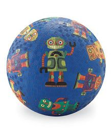Crocodile Creek Play Ball Robot Print - Dark Blue