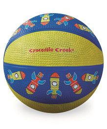 Crocodile Creek Play Ball Rocket Print - Blue Ywllow