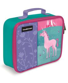 Crocodile Creek Classic Insulated Lunchbox - Teal Green Purple