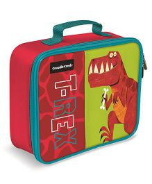 Crocodile Creek Insulated Classic Lunch Box T Rex Print - Red