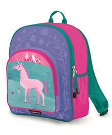 Crocodile Creek Backpack Unicorn Print Pink Purple - 14 inches