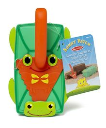 Melissa & Doug Sand Brick Maker and Trowel Set - Green