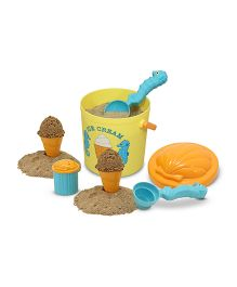 Melissa & Doug Speck Seahorse Sand Ice Cream Set - Yellow And Orange